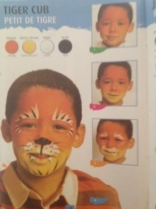 Tiger from the Face Painting Guide