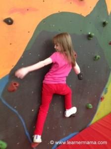 climbing wall emily birthday