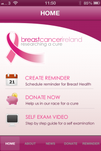 Breast Cancer app screen shot