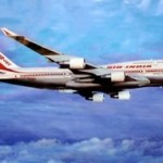 Poster shot - Air India Boeing 747-400 in flight