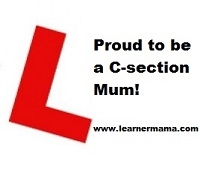 Proud to be c-section mum badge